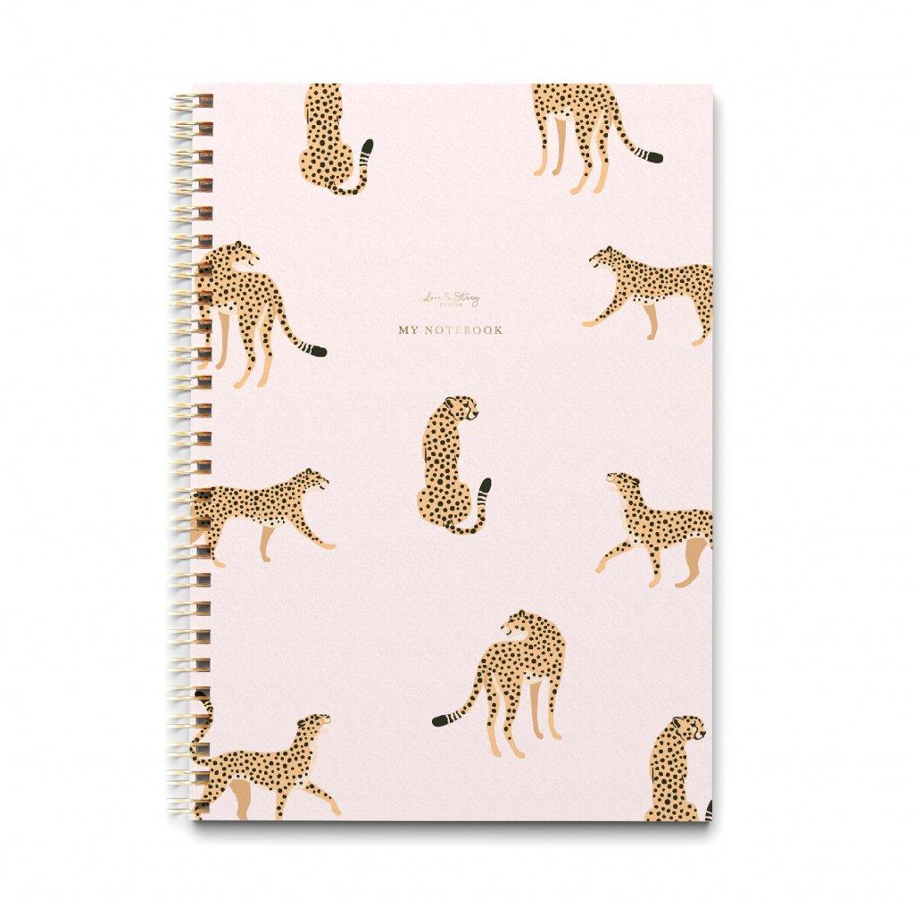 Zápisník A4 Cheetah