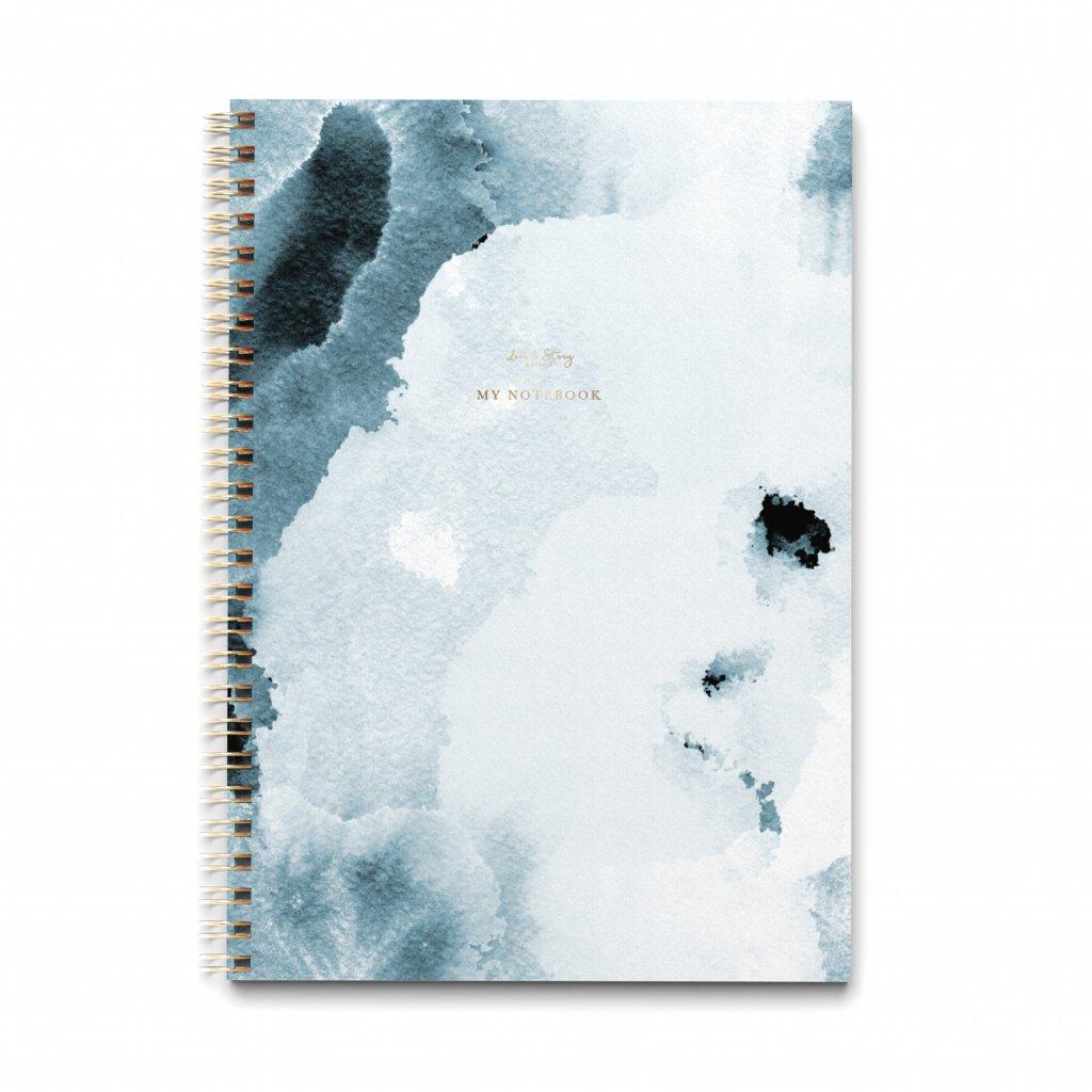 Zápisník A4 Blue Paint
