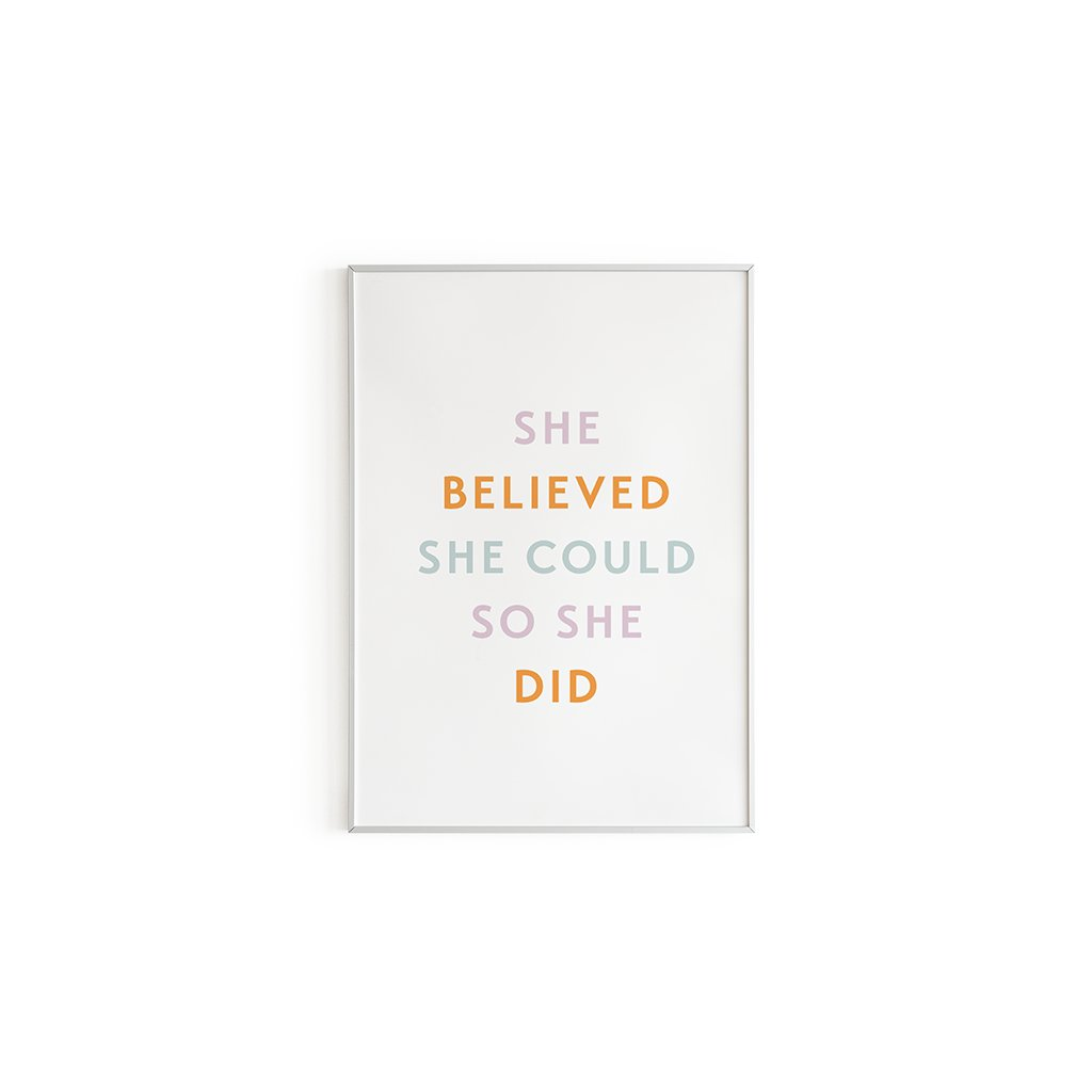 Plakát Believe