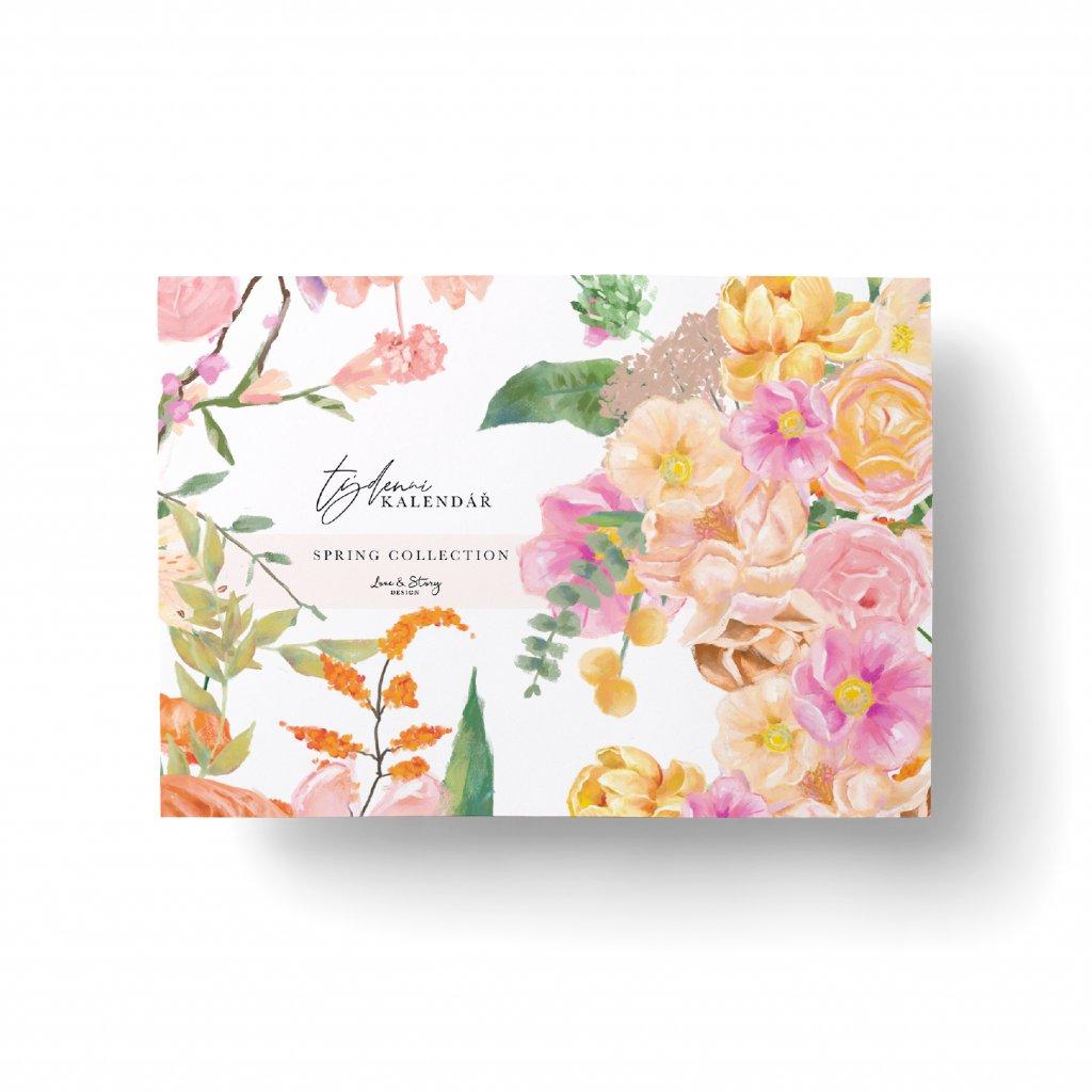 Stolní týdenní kalendář Spring Flower