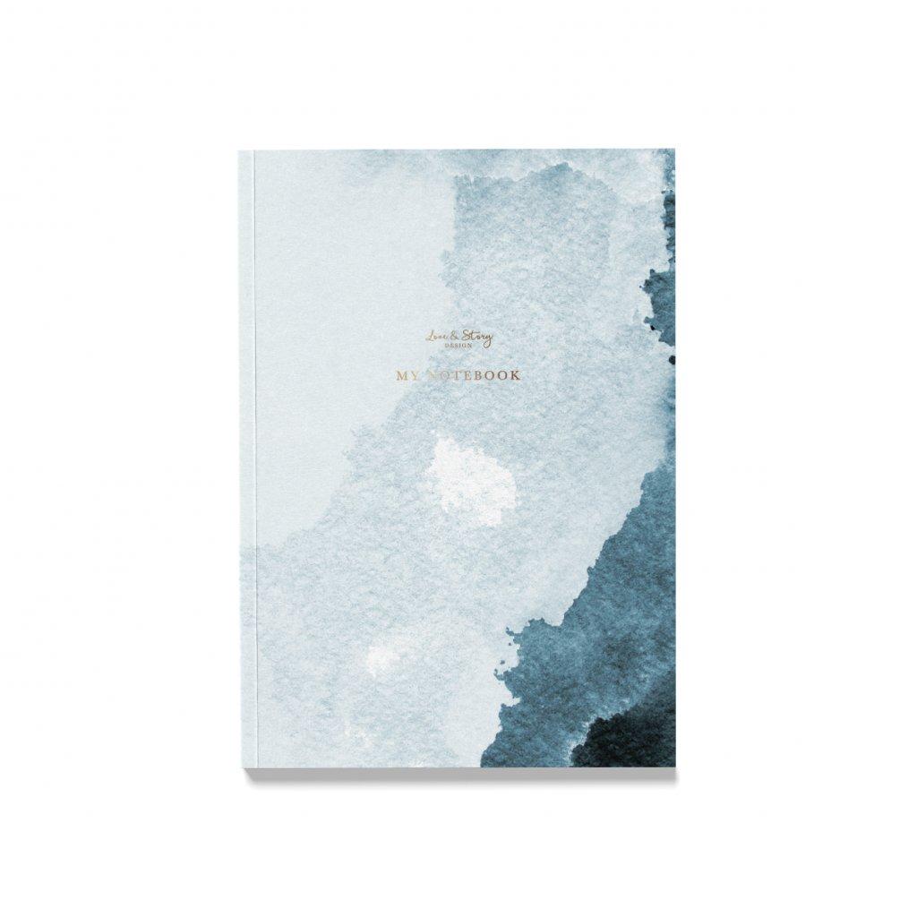 Zápisník Abstract Blue