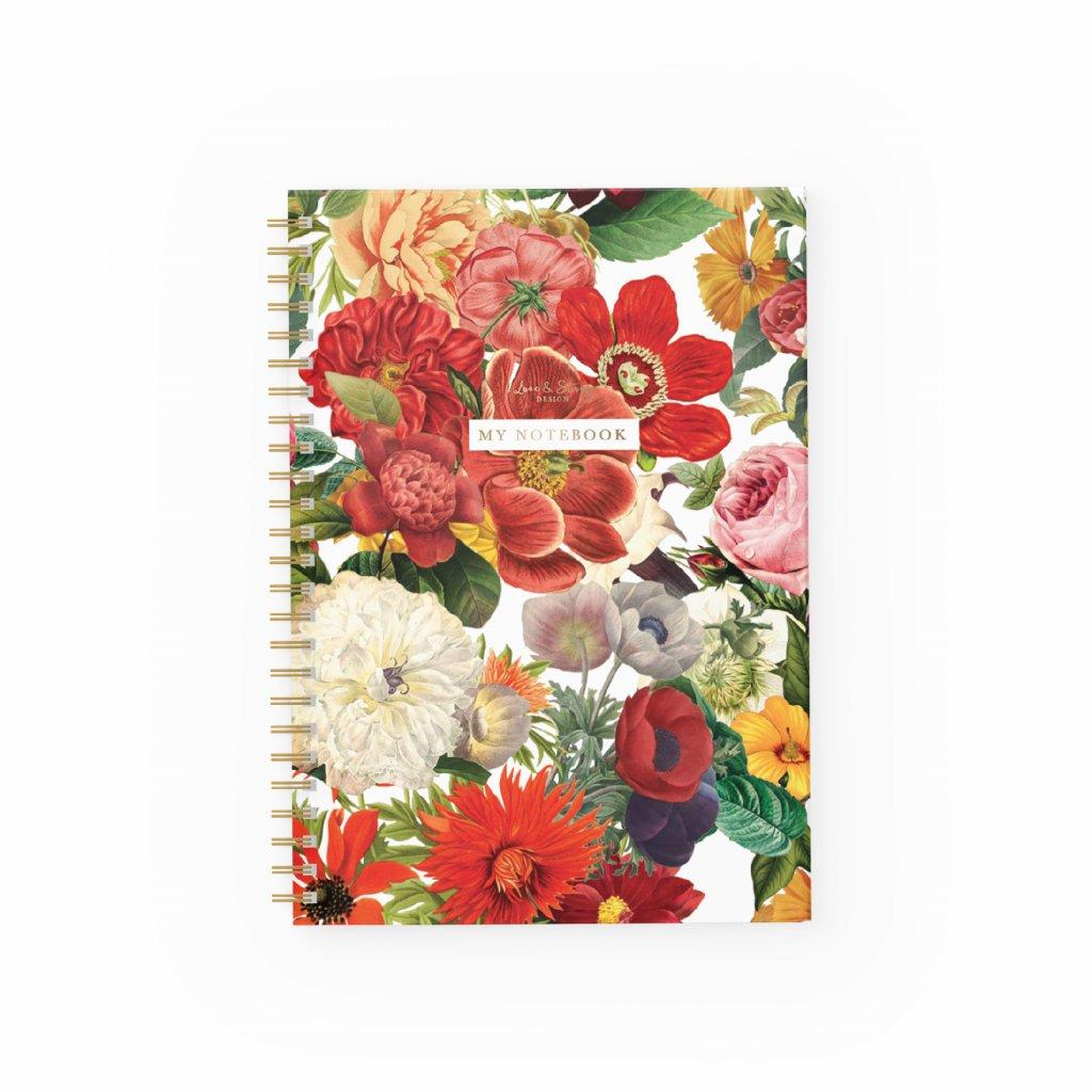 Zápisník Flower Garden