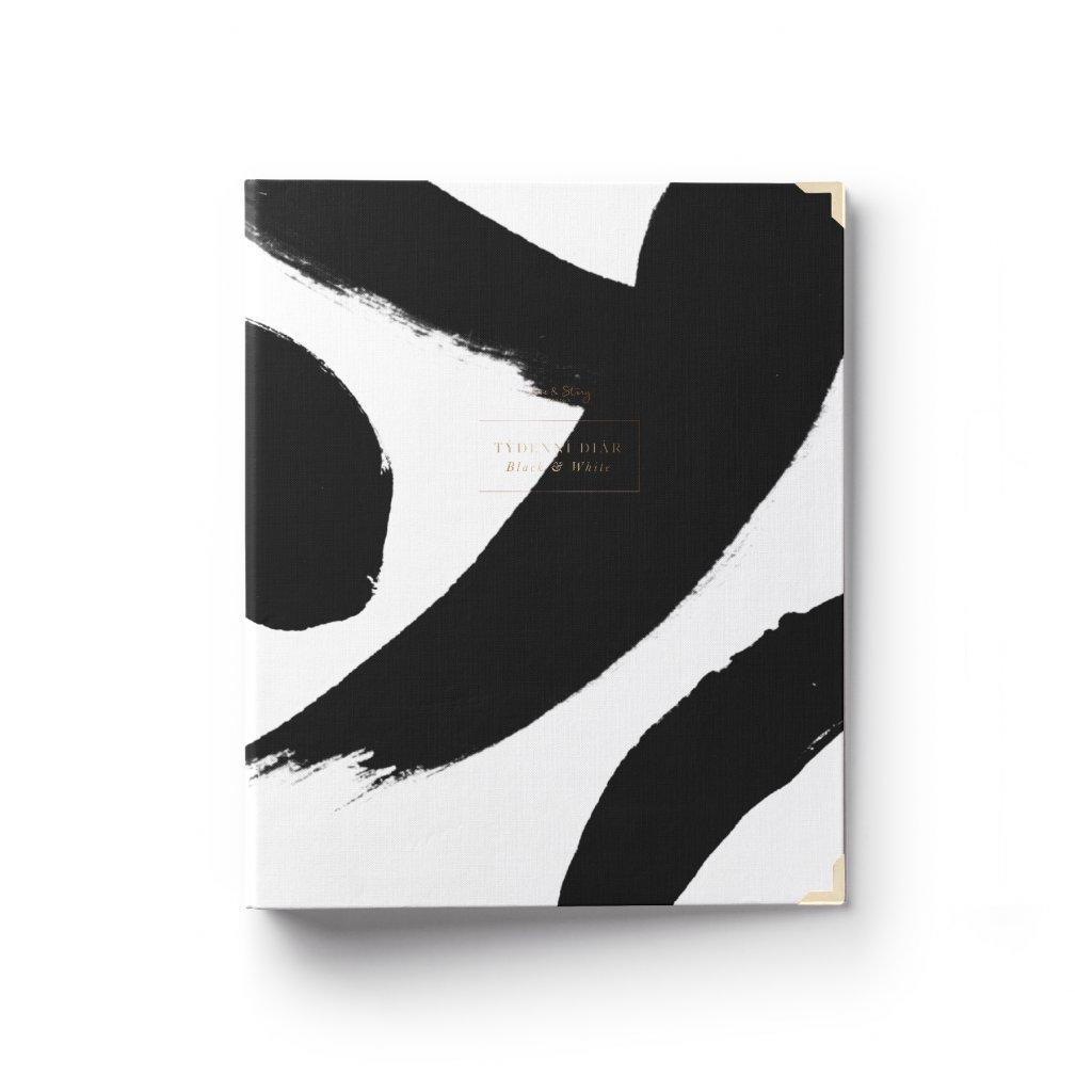 Šanonový diář a zápisník 2v1 Black & White anglický