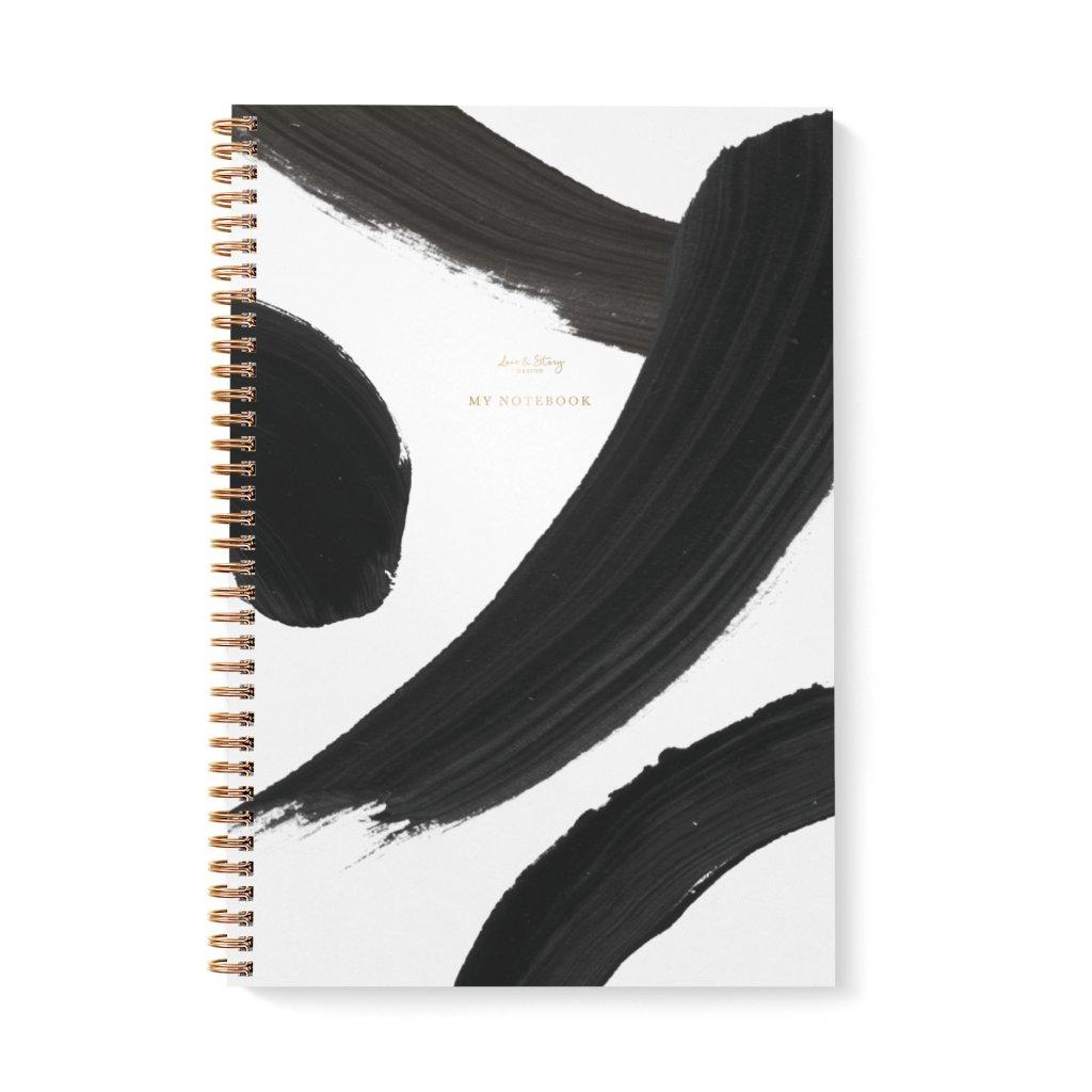 Zápisník A4 Black & White