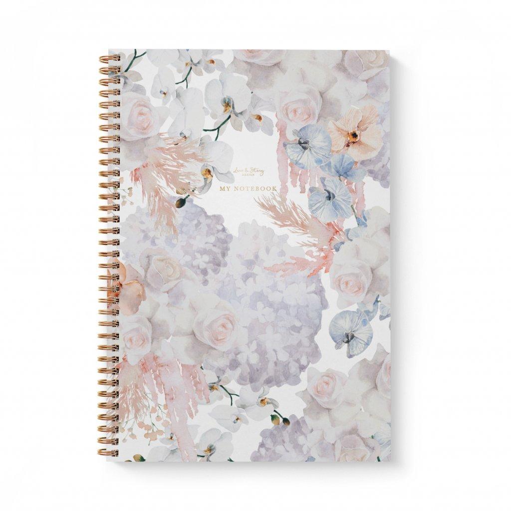 Zápisník A4 Delicate