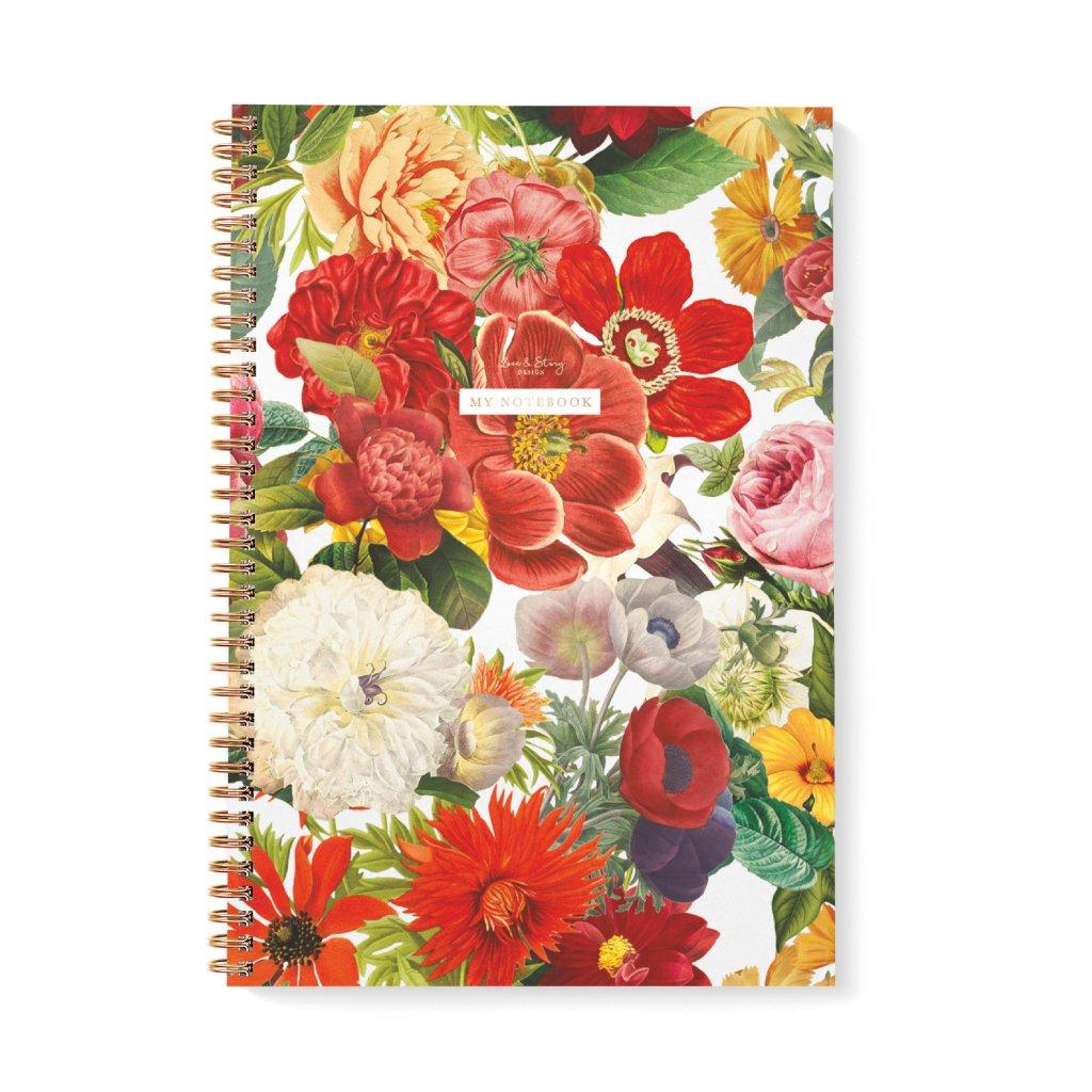 Zápisník A4 Flower Garden