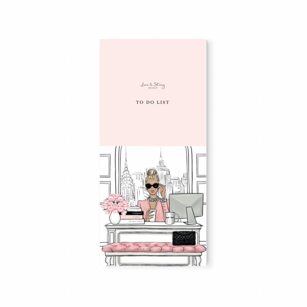 notepad pink