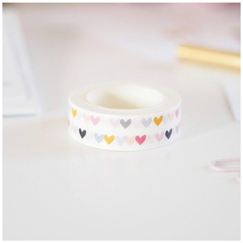 Washi páska colorful heart