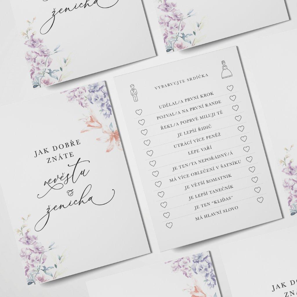 Kartičky pro svatebčany