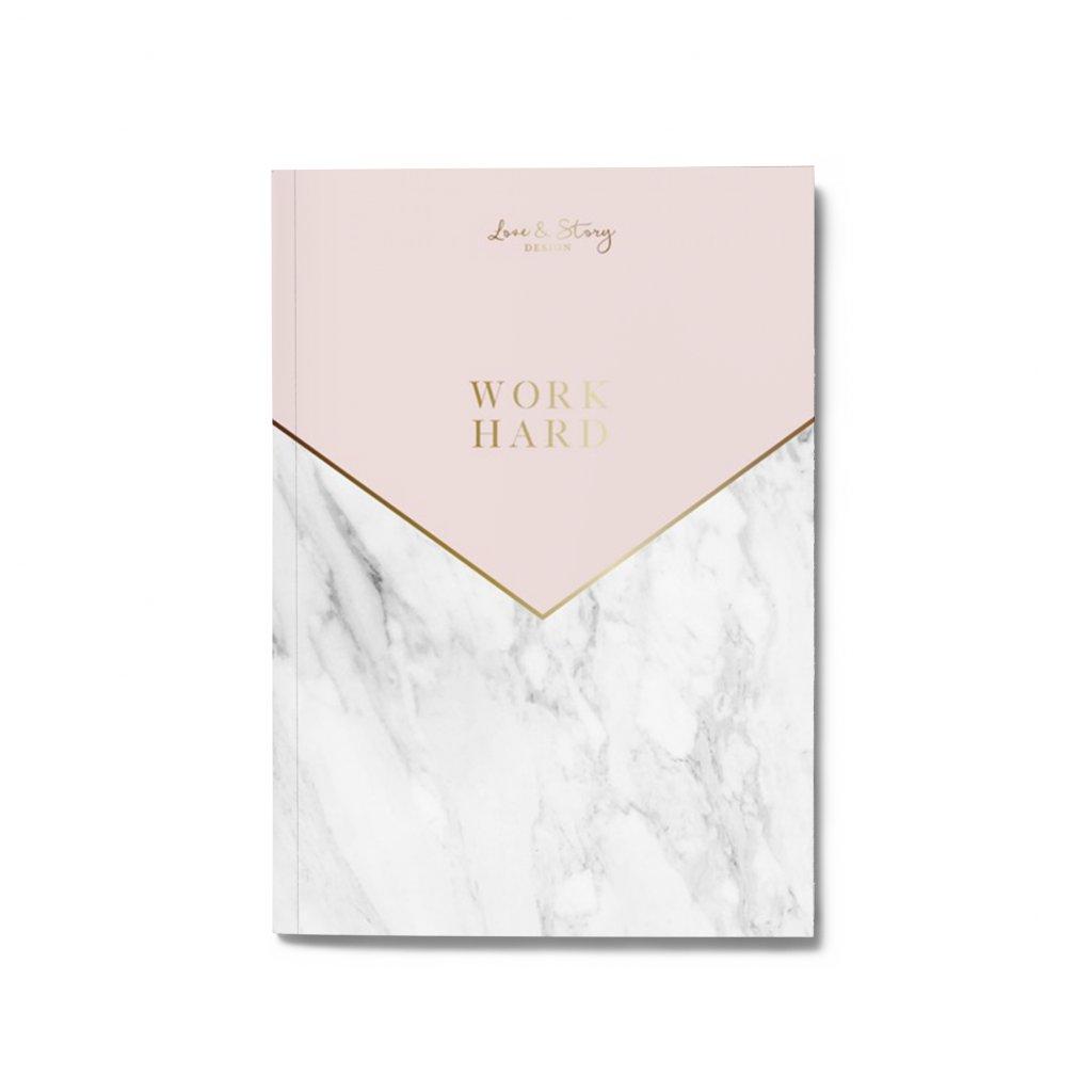 Zápisník Pink Marble