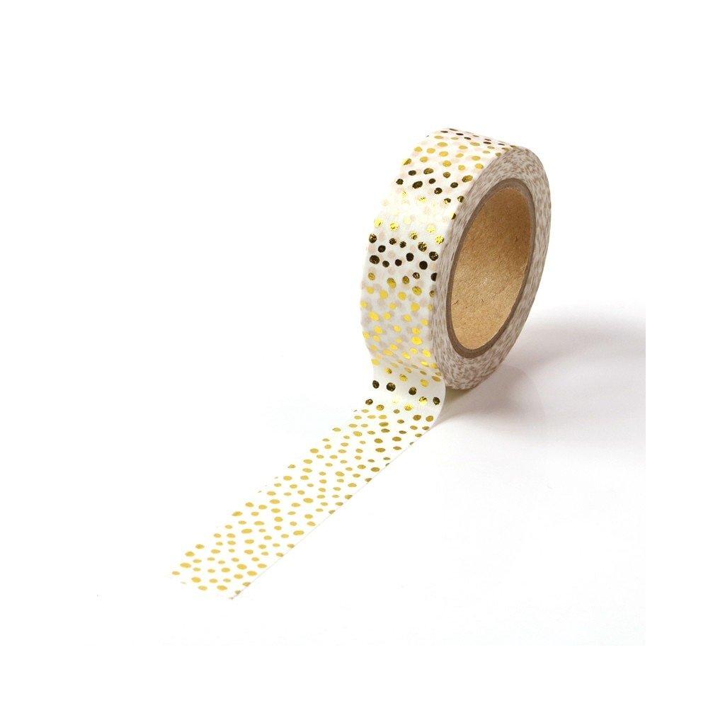 10M Cute Decorative Gold Foil Washi Tape Candy Dots DIY Scrapbooking Sticker Label Japanese Masking tape.jpg Q90