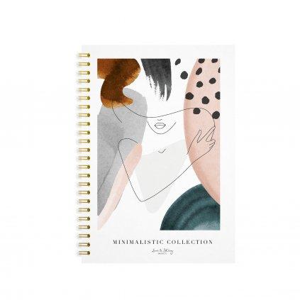 Zápisník s kroužkovou vazbou Elegant