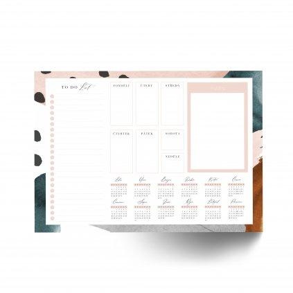 Stolní týdenní plánovač Minimalistic