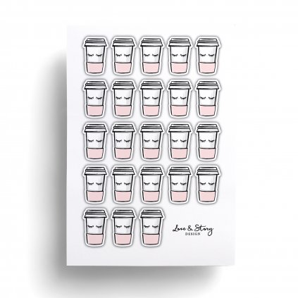 Samolepky Coffee Lovers
