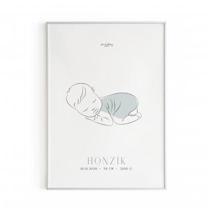 Personalizovaný plakát Sleeping Boy