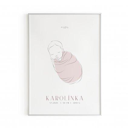 Personalizovaný plakát Baby Girl