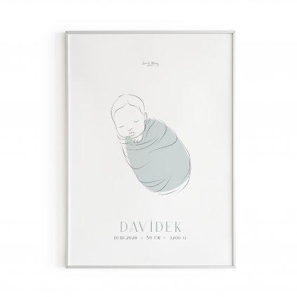 Personalizovaný plakát Baby Boy