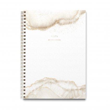 Zápisník A4 Gold Dust
