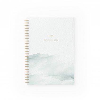 Zápisník Pastel Green