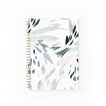 Zápisník Blue Splash
