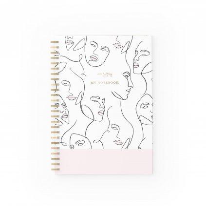 Zápisník Line Art