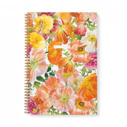 Zápisník A4 Poppies
