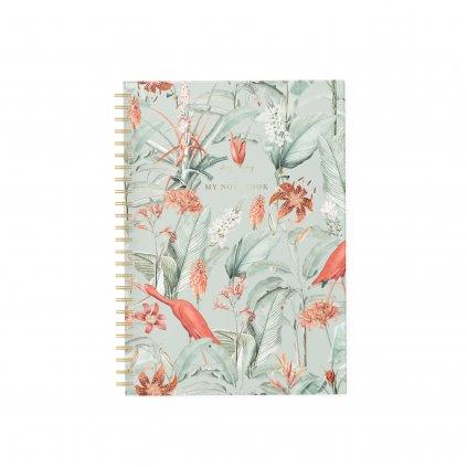 Zápisník Mint Garden