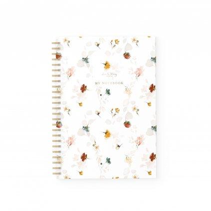 notebook autumn flowers