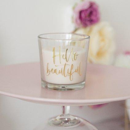 Svíčka Hello Beautiful