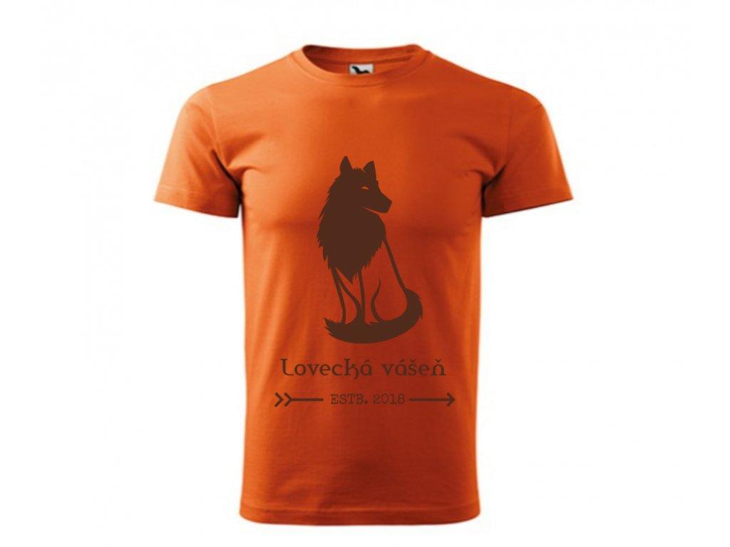 Pánske tričko Oranžové LOVECKÁ VÁŠEŇ