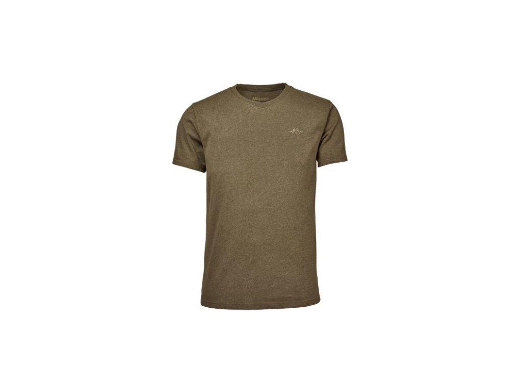V-Tričko Blaser- zelená melanž