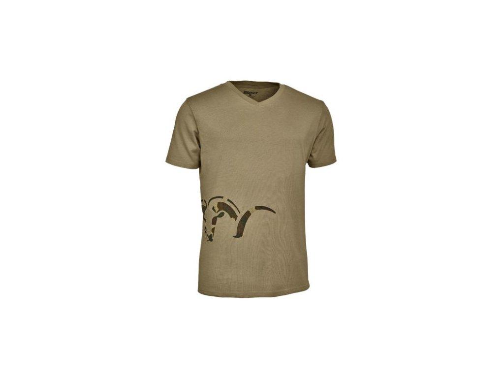 Tričko Blaser Logo V- pieskové