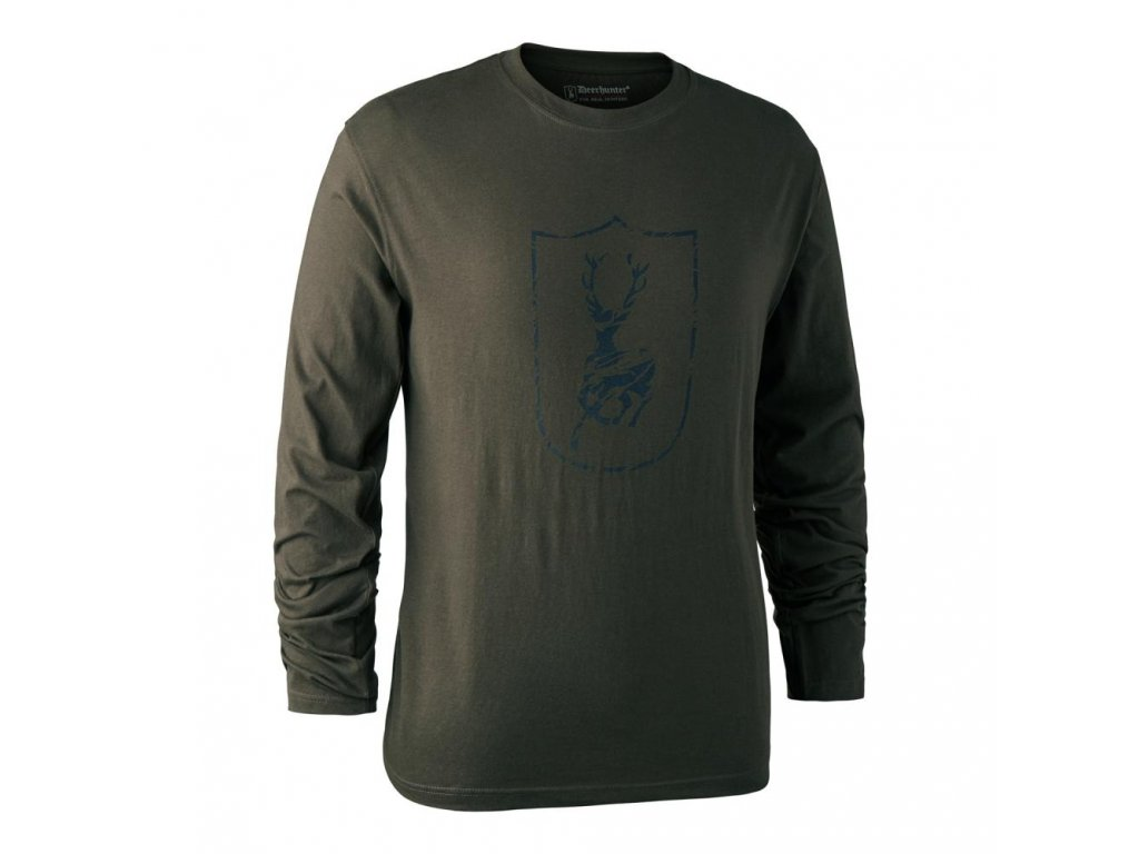 DEERHUNTER Shield Logo T Shirt L/S Shield | nátelník