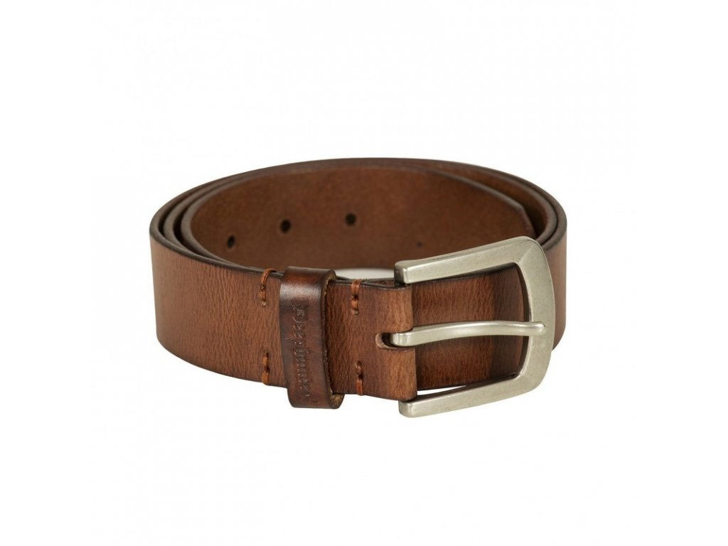 DEERHUNTER Leather Belt Cognac Brown | kožený opasok