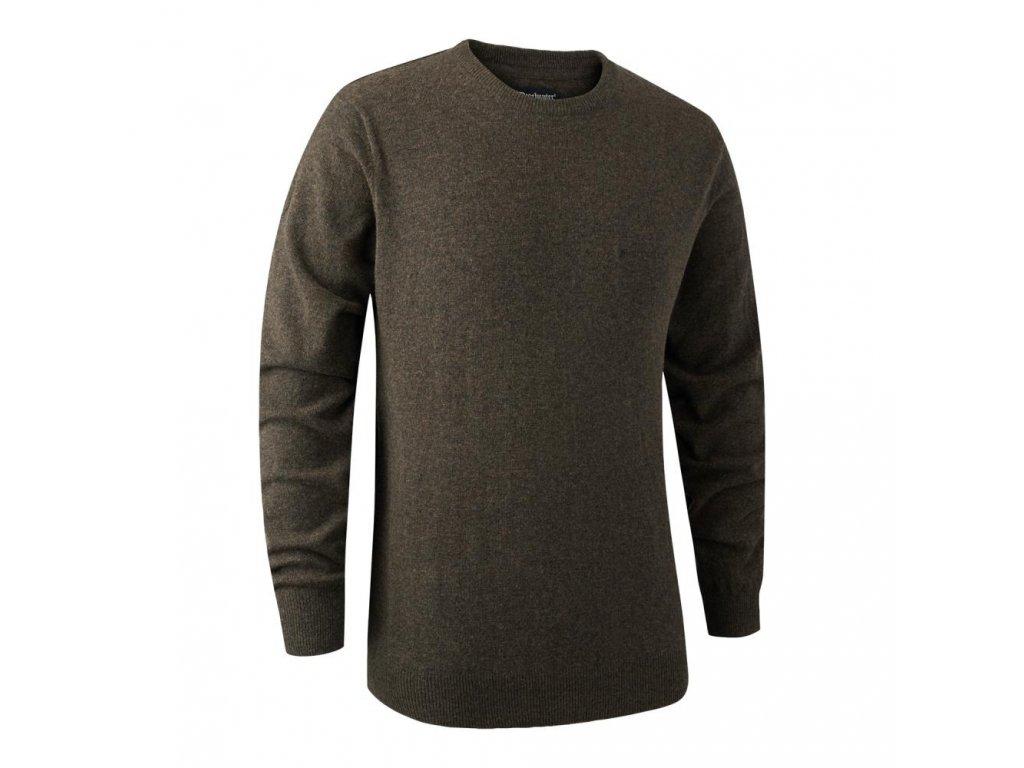 DEERHUNTER Brighton Knit O-neck Elm   poľovnícky sveter