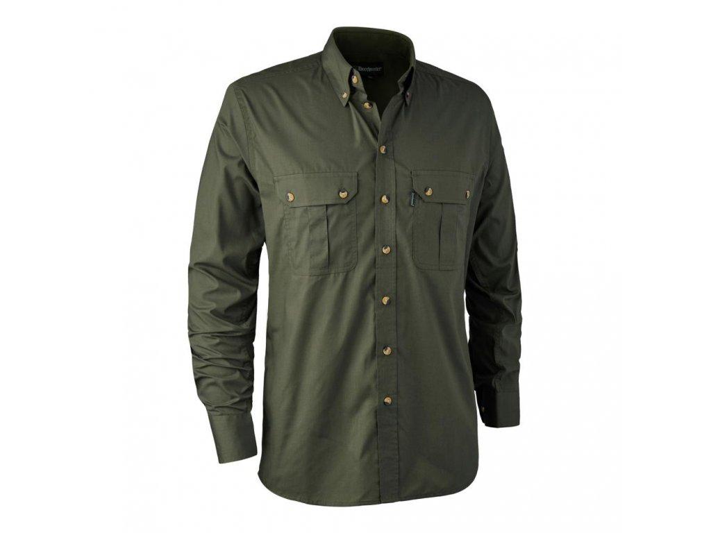 DEERHUNTER Clark Shirt Green | poľovnícka košeľa