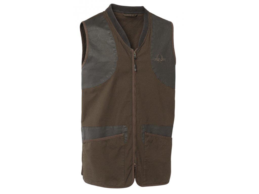 chevalier devon shooting vest brown vesta