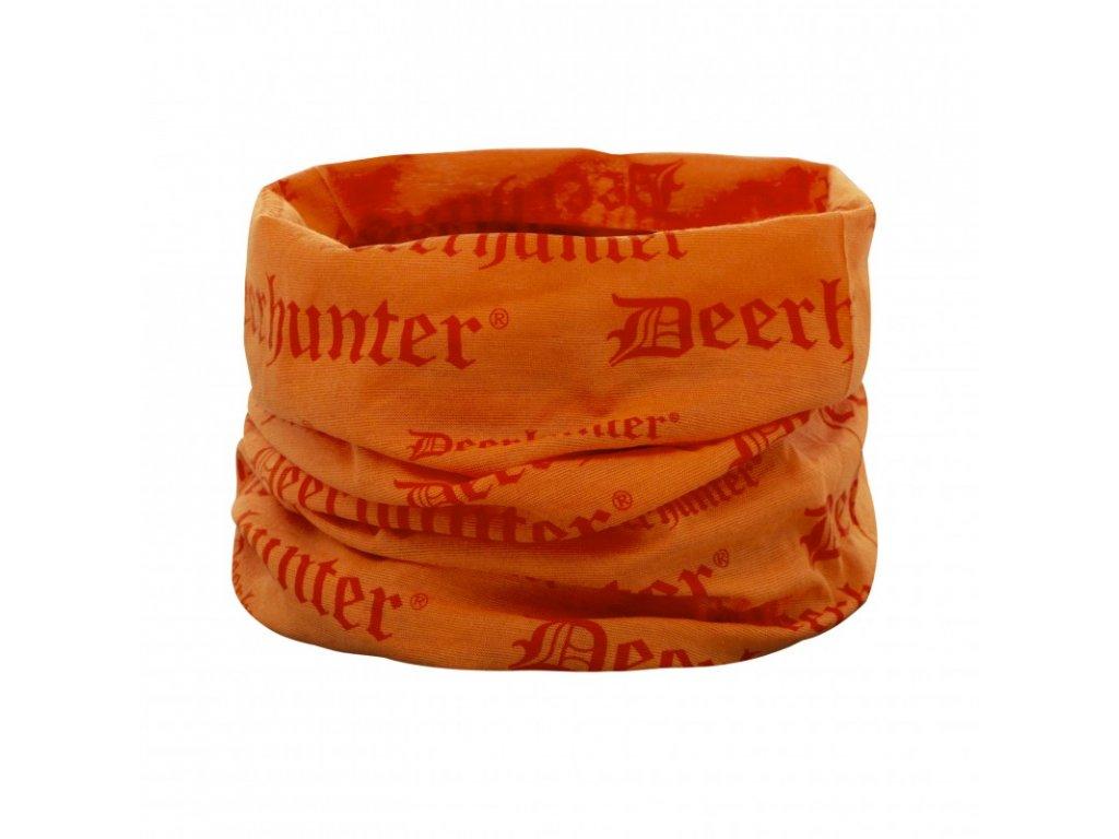 deerhunter logo neck tube orange nakrcnik