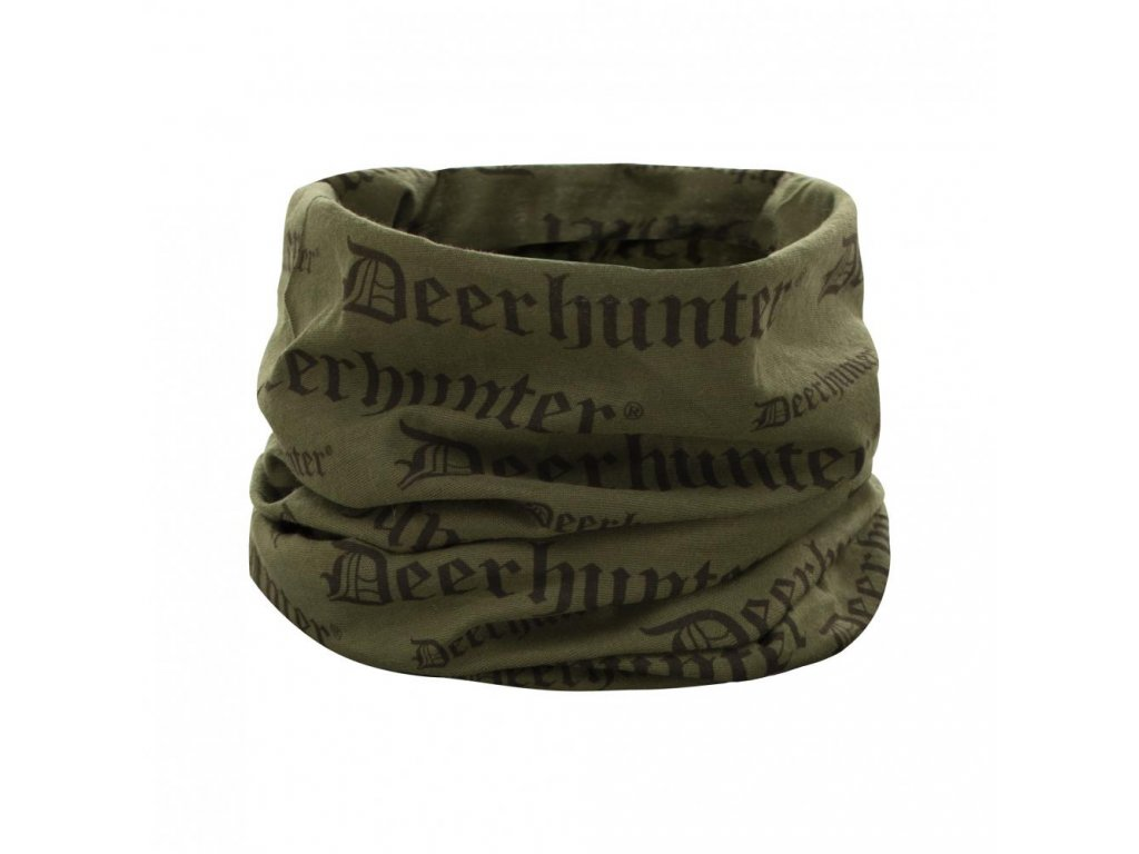DEERHUNTER Logo Neck Tube Green | nákrčník