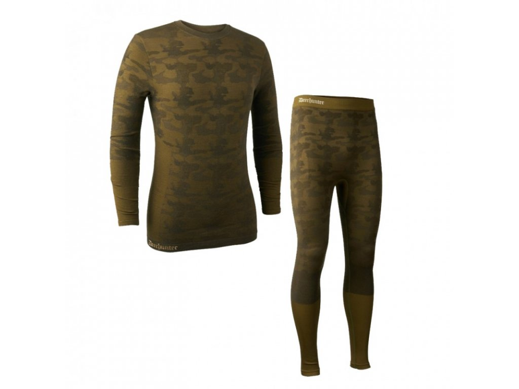 deerhunter camou wool underwear set termopradlo
