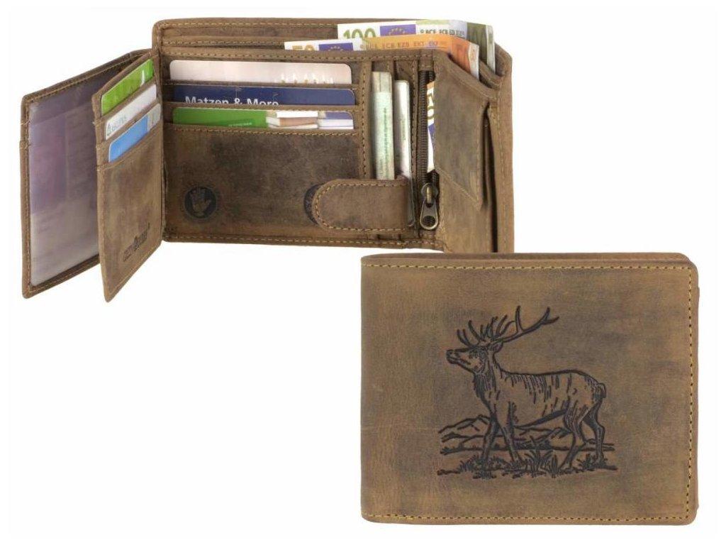 GREENBURRY 1796 Jeleň - kožená peňaženka hnedá