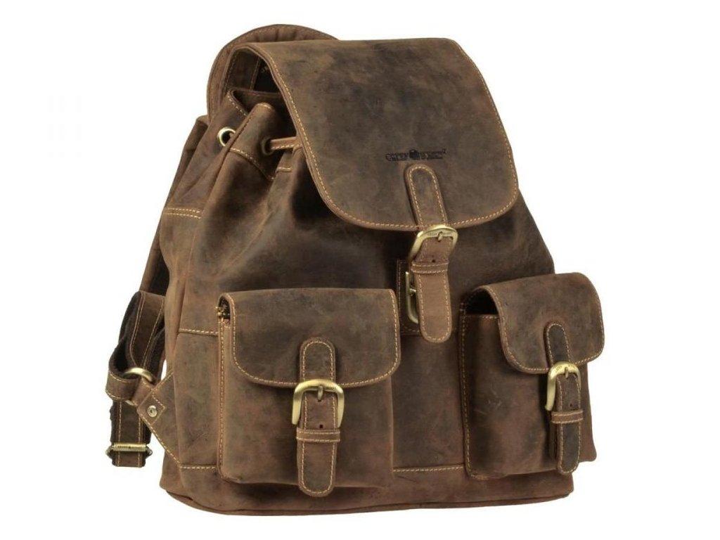 GREENBURRY 1711M - kožený ruksak stredný