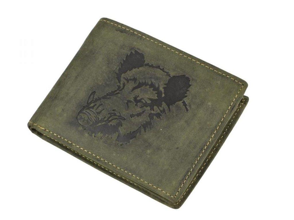 GREENBURRY 1705 Diviak - kožená peňaženka zelená