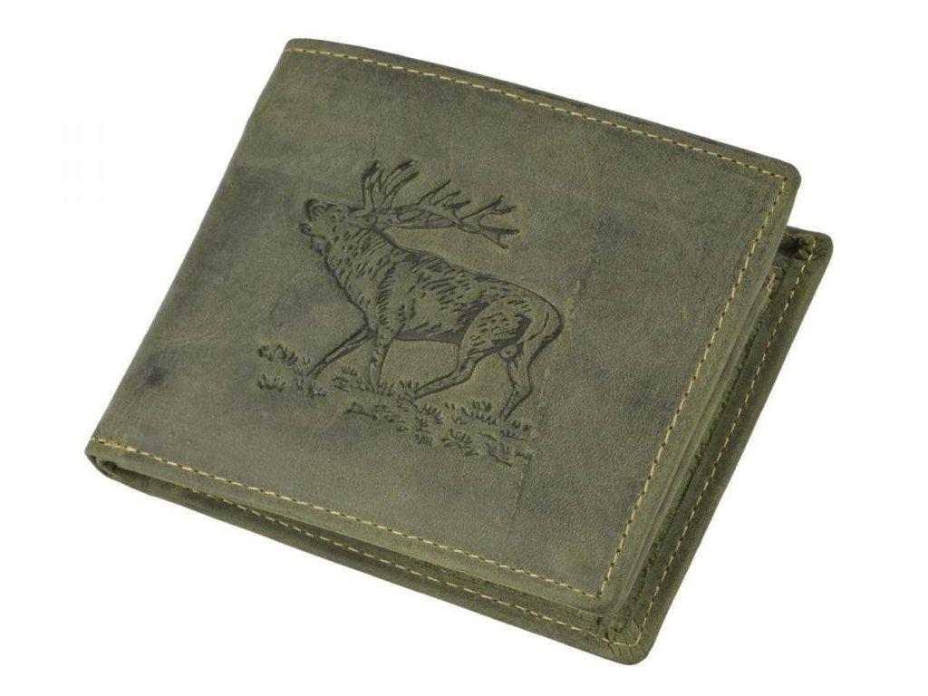 GREENBURRY 1705 Jeleň - kožená peňaženka zelená