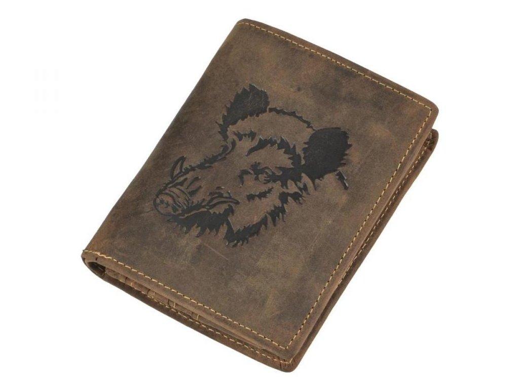 GREENBURRY 1701 Diviak - kožená peňaženka hnedá