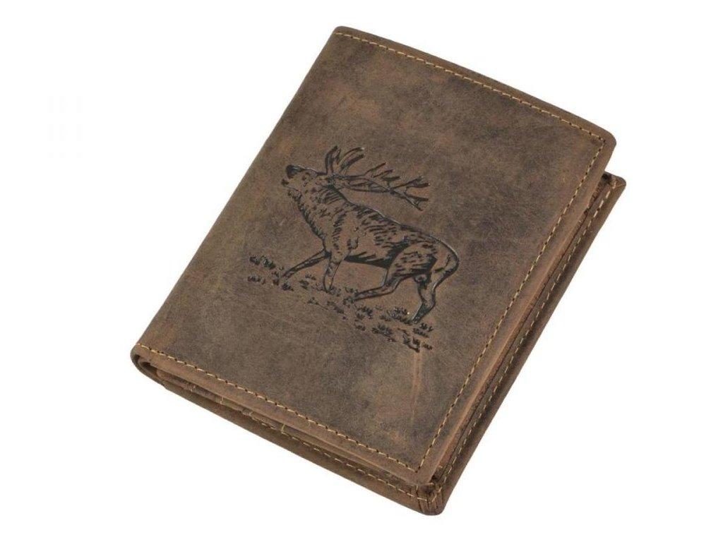 GREENBURRY 1701 Jeleň - kožená peňaženka hnedá
