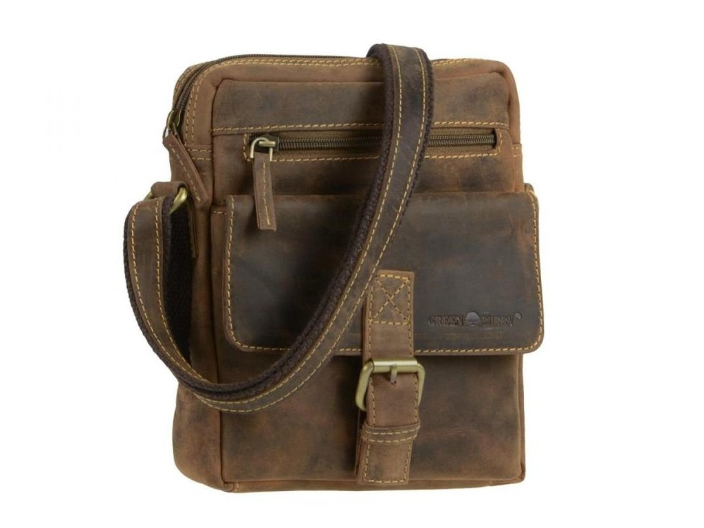 GREENBURRY 1663 - kožená taška na rameno