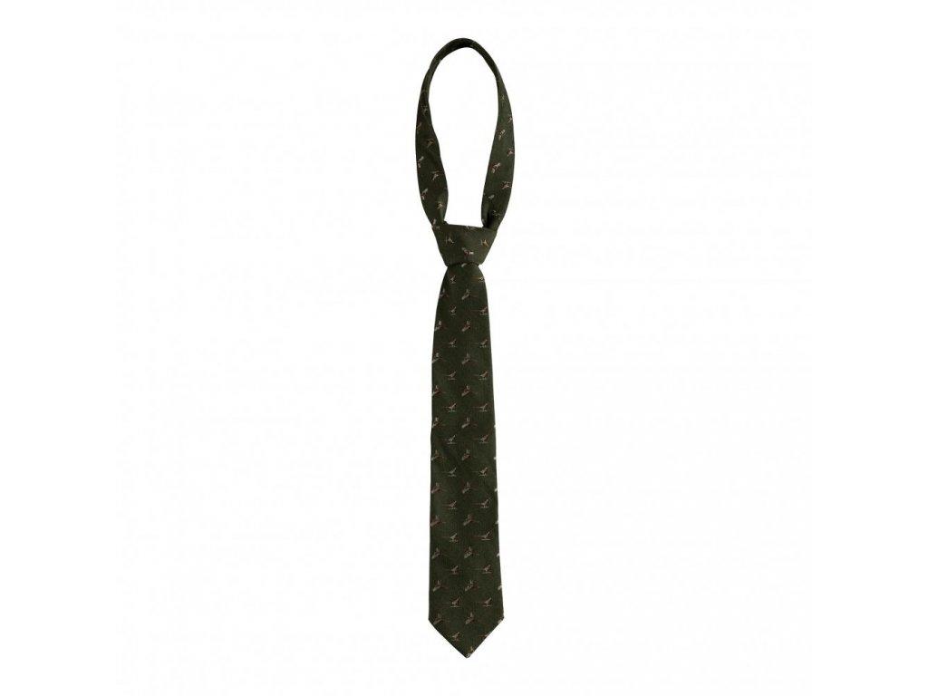 DEERHUNTER Tie w. Pheasant Green | poľovnícka kravata bažant