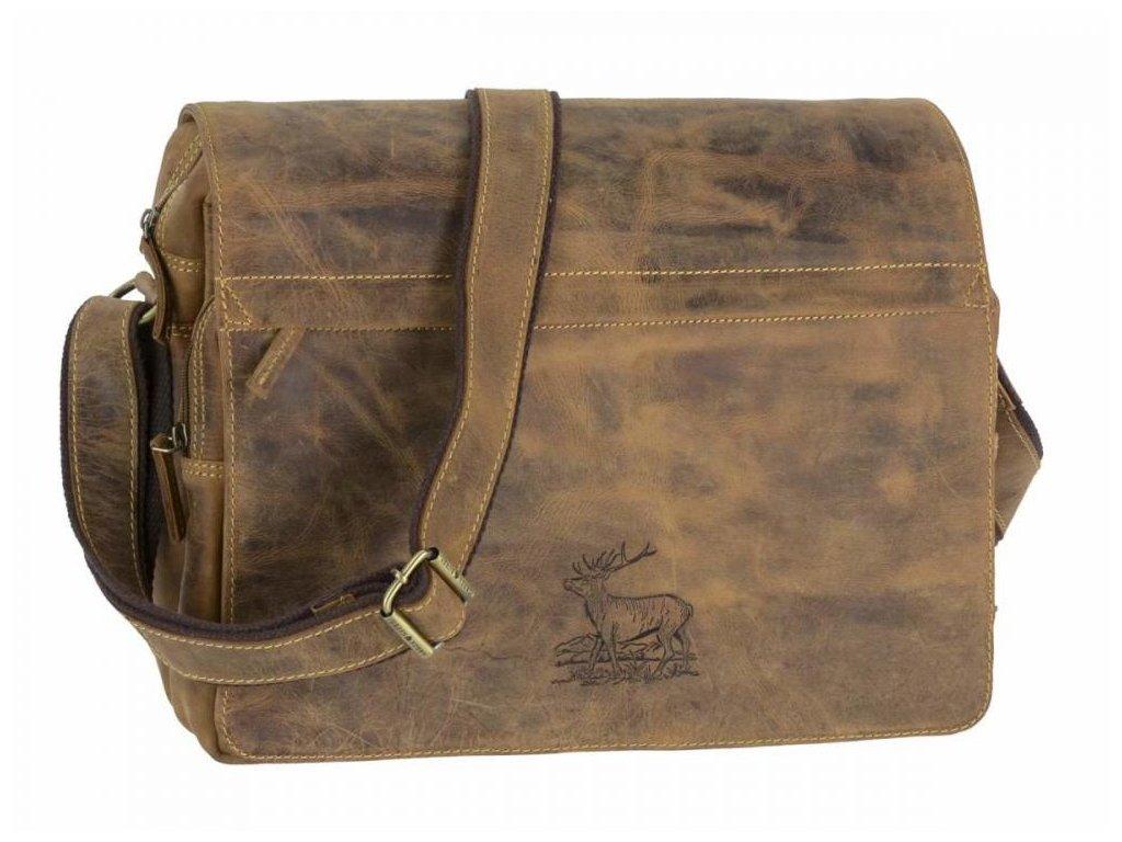 GREENBURRY 1766 Jeleň - kožená taška na rameno