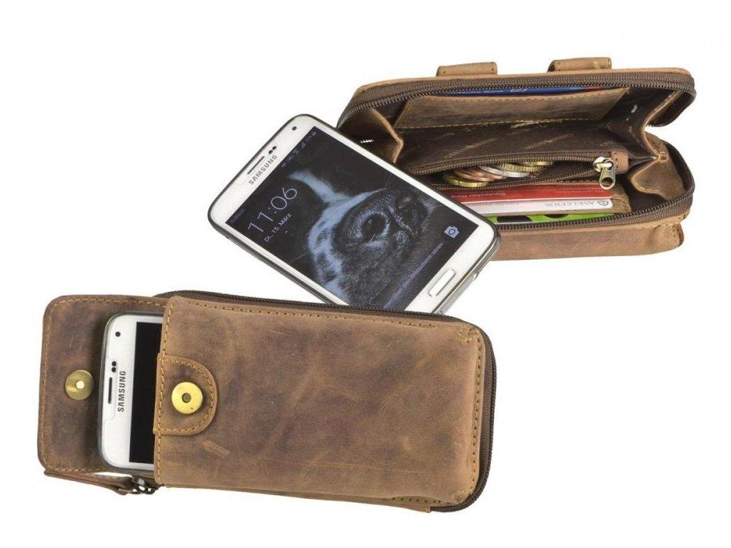 GREENBURRY 1818B - kožené púzdo na mobil